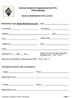 ACE Membership Form